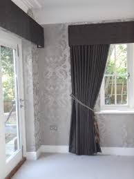 Silver Bedroom Curtains Crushed Velvet Curtains With Hard Wood Upholstered Pelmets And