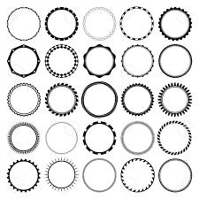 明確な背景を持つ円形の飾り枠フレームのコレクションですヴィンテージのラベル デザインに最適です