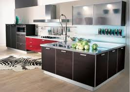 interesting kitchen design sports an array of colors and textures