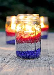 Decorate Jar Candles Easy DIY Red White and Blue Party Decoration She Wears Many Hats 83