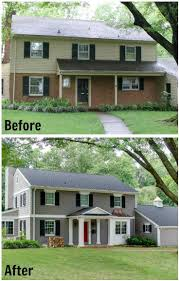 Best Ugly House Makeovers Images On Pinterest - Exterior paint for houses