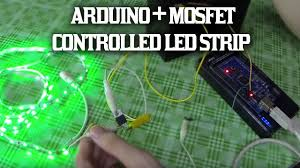 control v led strip from arduino using a mosfet