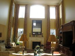 Two Story Living Room Curtains Images About Curtains On Pinterest Two Story Windows Tall