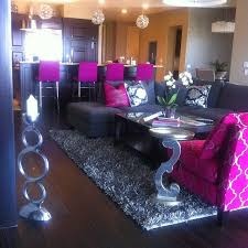 pink living room furniture. original pinner said my living room in bachlorette pad key colors hot pink grey black and silver i got this from chalene johnsonu0027s gorgeous home furniture