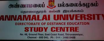 Annamalai university distance education study centre thiruvanmiyur