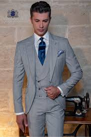 Grey Light Blue Suit Bespoke Prince Of Wales Light Grey And Blue Suit