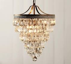 clarissa crystal drop small round chandelier pottery barn ca with decorations 10