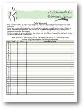 Fetal Kick Chart Pdf Professionals For Womens Health Obstetrics Tracking
