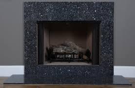 marble fireplace mantel black