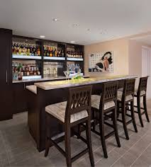 simple basement bar ideas. Detail Pictures Basement Bar Ideas With Tile Flooring Plus Wooden Dining Chairs Simple