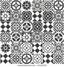 Decorative Tile Designs Decorative tile pattern design vector illustration signs 2