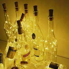10 cái Cork Hình LED Đêm Ánh sáng đầy sao Đèn Chai Rượu cho Trang trí Bữa  tiệc Màu vàng - Đèn