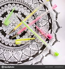 coloring book new stress relieving trend art therapy mental stockfoto
