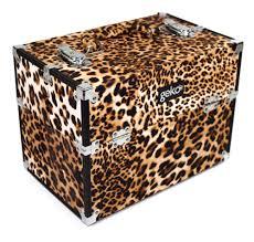 vanity case makeup box leopard print
