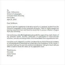 Sample College Application Letters Examples Of College Application