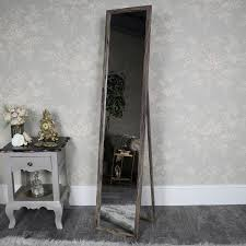 tall standing mirrors. This Floor Standing Mirror Will Add A Vintage, Rustic Feel To Room. With Brown Wood Effect Frame. Great For The Bedroom Or Dressing Room, Tall Mirrors