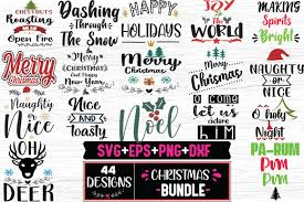Freesvg.org offers free vector images in svg format with creative commons 0 license (public domain). Christmas Bundle 44 Christmas Designs Graphic By Svg In Design Creative Fabrica