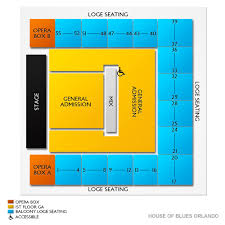 Orlando Amphitheater Seating Chart House Of Blues Orlando Tickets