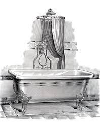 bathtub clipart old fashioned 3