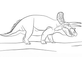 Small Picture Triceratops coloring pages Free Coloring Pages