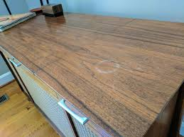 remove water stains from wood furniture