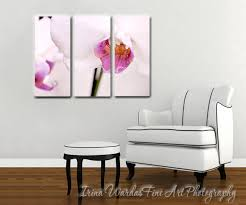 floral split canvas art 3 panel wall art extra large art orchid flower on orchid flower wall art with canvas wall art vertical three panel orchid in magenta white