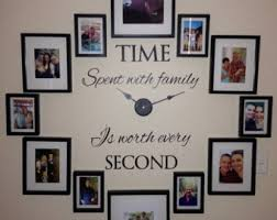 family clock wall art