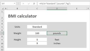 Bmi Categories Bmi Calculator In Excel Easy Excel Tutorial