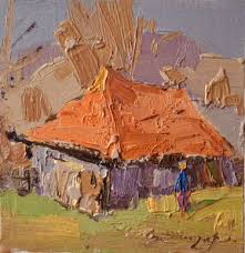 Image result for cardboard hut paintings