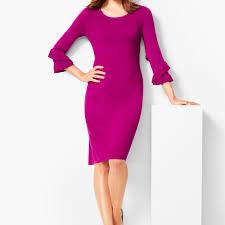 Talbots Dress Size Chart Three Quarter Sleeve Sweater Dress Talbots