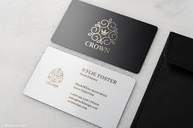 Cool Design Cards Cool Black And White Metal Name Cards Crown