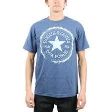 Rogue Status Dta Star Mens T Shirt In Denim Heather White