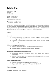 Sample Resume Nz Resume For Your Job Application