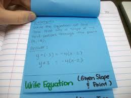 math love point slope form foldable worksheet 103 slope point form form large