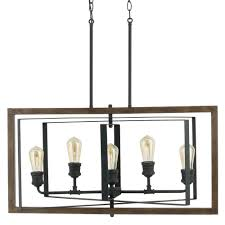 home decorators collection palermo grove collection 5 light black gilded iron linear chandelier 7922hdc the home depot