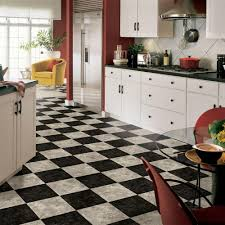 Kitchen Flooring Home Depot Armstrong 12 Ft Wide Caspian Ii Checkerboard Gray Vinyl Sheet