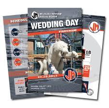 Sports Themed Weddings Custom Designed Game Day Wedding Programs