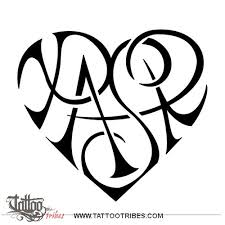 Letters For Tattoos Template Stunning Tattoo Of SR Heartigram Union Love Tattoo Custom Tattoo Designs