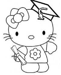 Kindergarten Graduation Coloring Pages Hello Kitty Graduation Coloring Pages Education Hello Kitty