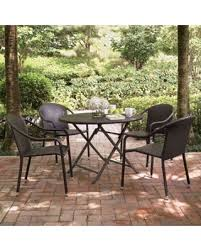 5 piece outdoor dining set. Crosley Palm Harbor 5-Piece Outdoor Cafe Dining Set Brown 5 Piece