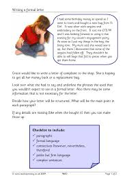 letter writing all literacy resources english 2 preview y6 writing composition letter of complaint