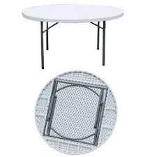 5ft round plastic folding table