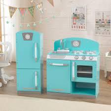 Retro Kitchen Blue Retro Kitchen Refrigerator Kidkraft