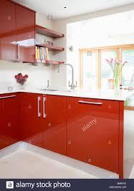 Red Lacquer Kitchen Cabinets Melamine White Kitchen Cabinets Pleasant Home Design