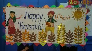 Baisakhi Chart Ideas Happy Baisakhi School Board Decoration Bulletin Board