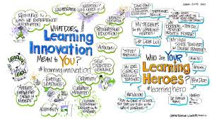 it takes a learning hero to break out of the education pipeline  artist jim nuttle captured mimi ito s learning innovation presentation