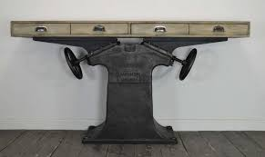 industrial console table for sale at pamono