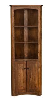 corner shelves furniture. Brilliant Shelves Amish Mission Corner Bookcase With Doors For Shelves Furniture U