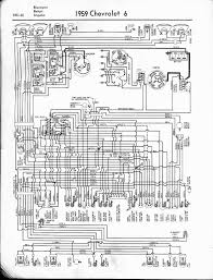 57 65 chevy wiring diagrams 1959 6 cyl biscayne belair impala