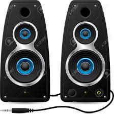 dj speakers clipart. black stereo speakers with plug stock vector - 9453063 dj clipart j